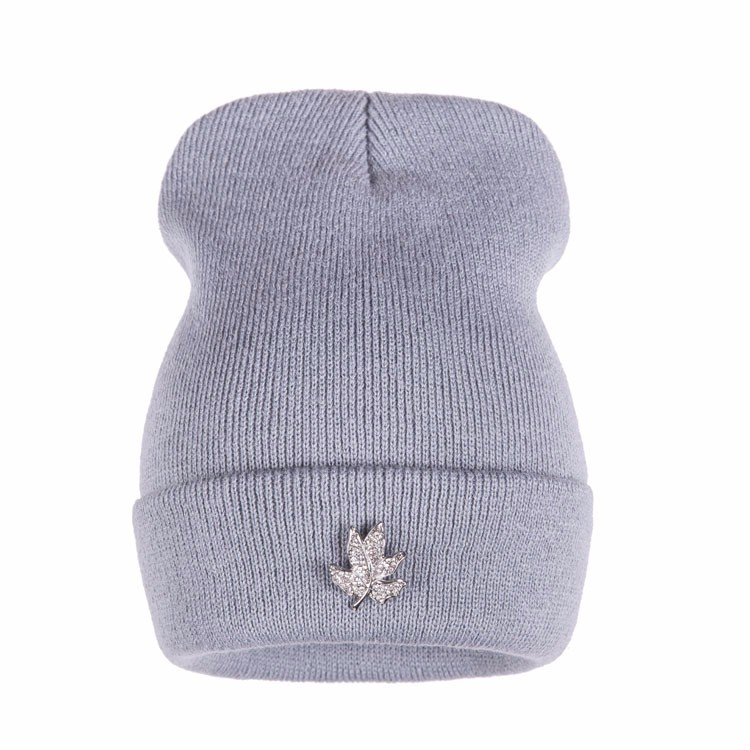 Ralferty Casual Crystal Leaf Beanie Winter Hats For Women Skullies Caps Female Chapeu Toca bonne gorras bonnet Cap Men Snowboard 6