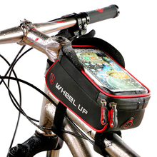 "Wheelup Rainproof Front Zipper Bike Phone Bag Cycle Touch Screen Waterproof Phone Bag Case Pouch Panniers For 6.0 "" Cell Phone"