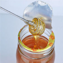 E74 HQ 3pcs/lot Stainless Steel Honey Dipper Spoon Swizzle Stick Egg Beater Whisk Mixing Tool