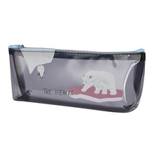 Student translucent pencil case pencil case cosmetic bag travel make-up clever cute little bag good easy to carry it to buy itOK(China)