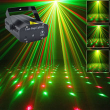 New Mini Portable 110-240V Red Green Laser Meteor Projector Lights DJ KTV Home Party Dsico Xmas LED Stage Lighting O100B(China)
