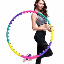 Lightweight Magnet Hula Hoop Detachable Ring Tube Circle for Waist Slimming Health Body Building Equipment(China)