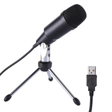 LESHP Professional Microphone Wired Recording Metal Audio USB Condenser Microphones With Tripod Home Studio for Skype Recordings