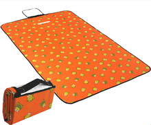 100x150cm Oxford & PVC Mat Orange Frog Picnic Outdoor Camping Mat 59inches For Beach Yoga Breaking Waterproof Customize Placemat