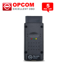 5PCS/Lot V1.59 Latest Version OP COM For Opel OBD2 OP-COM/OPCOM CAN BUS Interface Free Shipping