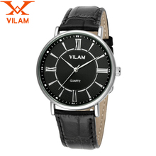 VILAM 2016 relogio masculino Mens Watches  best quartz watch men japan movt Sports Watches Dress brand luxury Men Wrist Watches