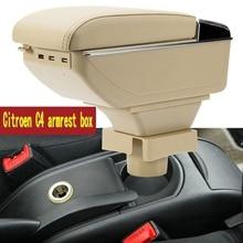 Для Citroen C4 подлокотник коробка центральный магазин коробка содержание Citroen подлокотник коробка продукты интерьера хранения центральной ко...(China)