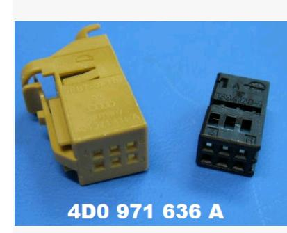 FOR VW / Audi / Skoda 6PIN  connector 4D0 971 636A<br>