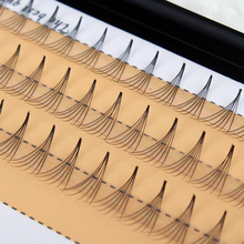 1Set Women Soft  0.07 C 6D Wave Individual Eyelashes Silk False Eye Lashes Extension Mink Black Tools