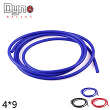 "Dyno racing- free shipping 5M Length 5/32"" (4mm) Vacuum Silicone Hose Intercooler Coupler Pipe Turbo red blue black"