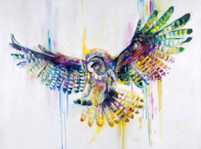 X Series Hand-painted High Quality Abstract Owl Oil Painting On Canvas Handmade Animal Owl Oil Painting For Wall Decoration