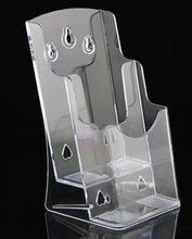 A6 2 cells acrylic Half Page Brochure Display holder stand data file display rack(China)
