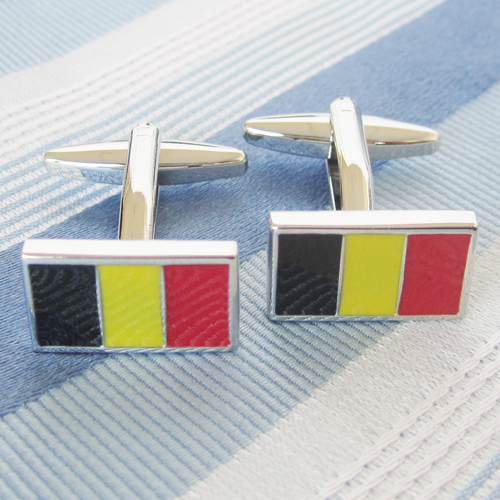 Belgium Flag Cufflink 15 Pairs Wholesale Free Shipping
