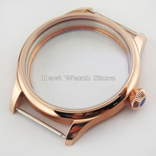 44mm Parnis rose golden case ETA 6497 6498 Seagull st36 movement Watch Kit  PVD Sterile Case watches