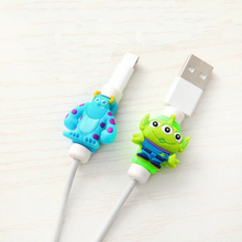 FFFAS Cartoon Kawaii Cable Protector Charger USB Earphone Cable Winder For Apple IPhone 4 5 5s 6 6s 7 8 X Plus Cable Protect(China)