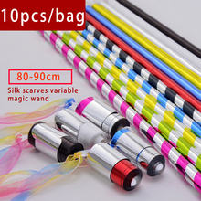 10pcs/bag Manufacturer of magic props magic wand magic toy rod rod plastic silk to the magic wand wholesale