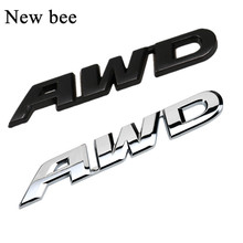Newbee 3D Car Styling Chrome Metal Sticker AWD Emblem 4WD Badge Logo Tail Fender Decal for Toyota Impreza Honda 4X4 Off Road SUV(China)