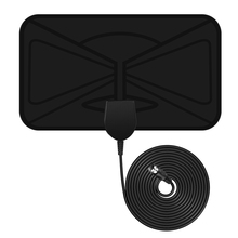 Pictek Amplified HDTV Antenna 25 Miles Range Digital Indoor EU Plug TV Antenna Signal Amplifier Booster w/ 10ft Long Range Cable