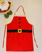 New Christmas Kitchen Bar Home Decorations Santa Claus Unisex Aprons Red Non-woven Xmas New Year Family Household Party Supplier(China)