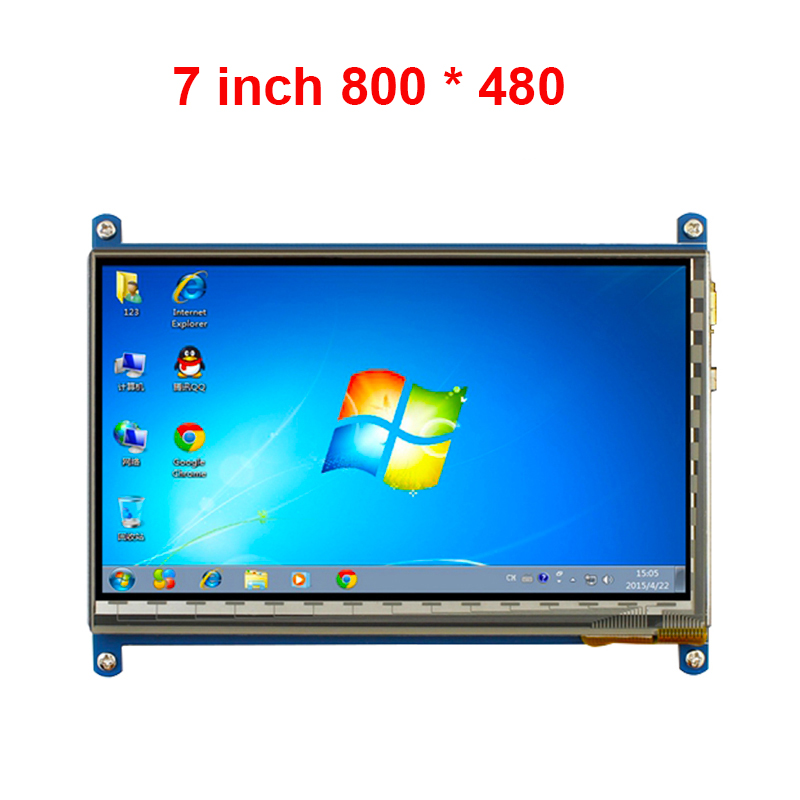 Raspberry Pi 3 LCD Display Touch Screen 7inch HDMI LCD 800 x 480 HDMI Cable TFT Monitor Module Compatible RPI 2/B+ Free Shipping<br>