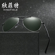 Fashion concise Men Polarized sunglasses Alloy frames glasses UV400 high definition Blocking glare lens Eyeglasses