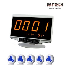 DAYTECH Wireless Calling System Caregiver Pager for Restaurant Tables Nursing Home 1PC LCD Panel 5 PCS Waterproof Call Buttons