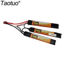 Taotuo Power Polymer Lipo Battery 11.1V 1500mah 25C 3S T Plug For Mini Airsoft Guns Battery RC Model Bateria