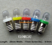 E10 3V 6V 9V 12V 24VDC Led Bulb Light Lamp for DIY LIONEL 10PCS(China)