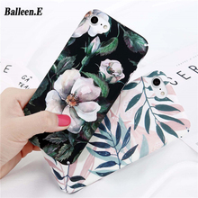 Balleen. E Telefoon Gevallen Voor iPhone X 8 7 6 6 s Plus 5 5 s SE Bloem Bloemen Bladeren Case Camellia Cherry Back Cover Hard PC Capa Coque(China)