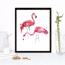 Nordic Typography Chic hot pink flamingo Art Canvas print decorative wall Picture living Room Home wall poster painting ornament