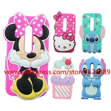 For Motorola Moto G3 Case Minnie Stitch Hello Kitty Cupcakes Unicorn Tiger Cat Rabbit Rubber Cell Phone Cases Cover For Moto G3(China)