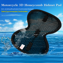 Great Price Universal Motorcycle Scooter 3D Honeycomb Helmet Mesh Material Pad Waterproof Protective Accessories 5 Colors(China)