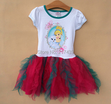 Popular Brand New Princess girls kids summer dress tutu childrens dresses 8 pcs/lot