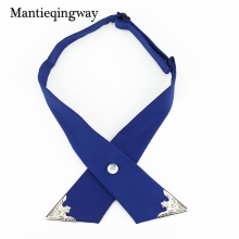 Mantieqingway Fashion Cross Bow Ties for Men Business Wedding Cross Tie Women Solid Color Skinny Bowtie Men Collar Bowtie