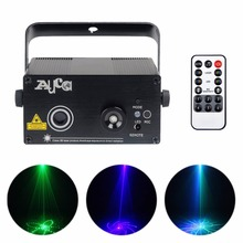 AUCD Mini 20 Green Blue Pattern Laser Projector Light 3W Blue LED Mix Effect DJ Home Party Show Wedding Stage Lighting Z20GB(China)