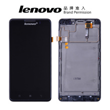 "Free Tools Original 5"" IPS LCD For LENOVO P780 Display Touch Screen with Frame Digitizer Assembly Display For LENOVO P780 LCD"