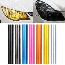 30cm x 120cm 7-Color Auto Car Tint Headlight Taillight Fog Light Vinyl Smoke Film Sheet Sticker Cover 12inch x 48inch(China)
