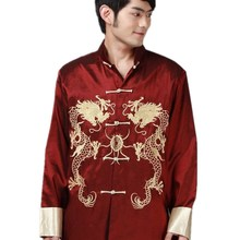 Shanghai Story hot sale Long Sleeve Jacket Chinese Traditional clothing  Dragon Jacket Men s mandarin collar kungfu 7c8b24029919