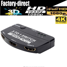 2017 4K HDMI Switcher 3X1 Selector HDMI 1.4V 3 in 1 out for HDTV PS4 DVD player laptop(China)