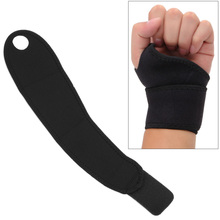 Sport Wristband Adjustable Wrist Support Joint Brace Black Nylon Professional Training Hand For Weight Lifting,Powerlifting