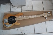 Free shipping Top qulity musicman Erime Sting Ray Ball bass 5 string burlywood Bass Guitar(China)