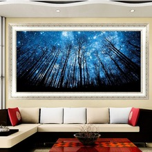 5 D DIY Embroidery Mosaic For Gift Diamond Forest Blue Painting Home Decor Cross Stitch Diamond