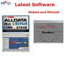 Promotion Price Latest Alldata and Mitchell Software alldata software 10.53 + Mitchell on demand 2015 ect full set 27in1 1tb hdd(China)