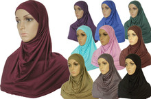 New Style jersey 2 Piece Amira Hijab Muslim scarf 2pc001(China)