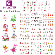 11sheet/SET BJC023-033 cat nail design Gitter Christmas nail sticker decals water sticker for water decals nail art stickers(China)
