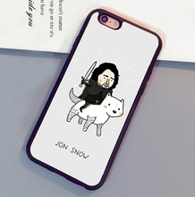jon snow game of throne hellip Printed Mobile Phone Cases For iPhone 6 6S Plus 7 7 Plus 5 5S 5C SE 4S Soft Rubber Cover Skin