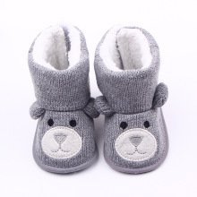 2017 Winter Super Warm Baby Girl Bebe Snow Red Boots Infant Toddler Buckle Solid Keep Warm Kids Footwear Soft Bottom Shoes