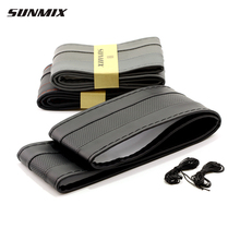SUNMIX breathable type steering wheel hub breathable sewing steering wheel cover DIY classic steering cover soft braid on wheel