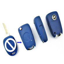 1pcs/lots blank  key one button modified flip remote key shelll with logo for fiat one button on side uncut blade