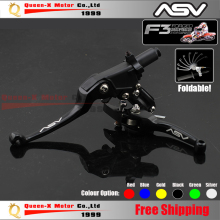 Free Shipping Aluminum CNC ASV F3 2ND Folding Clutch And Brake Lever For Dirt Bike/Pit Bike Modify parts Spare Parts